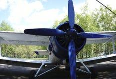 От других цветов малый самолет с винтом Стоковое фото RF