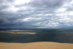 От дюны Pilat Landes Гаскони Франции Стоковая Фотография