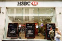 Отделение банка HSBC в Лондоне Стоковые Фото