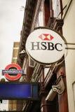 Отделение банка HSBC в Лондоне Стоковая Фотография