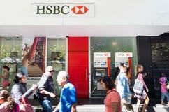 Отделение банка HSBC на улице Swanston, Мельбурне Стоковые Изображения RF