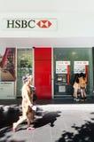 Отделение банка HSBC на улице Swanston, Мельбурне Стоковое Изображение