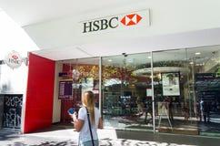 Отделение банка HSBC на улице Swanston, Мельбурне Стоковые Фотографии RF
