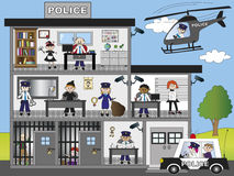 Отделение полици Стоковое Изображение RF