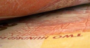 Отделенная деталь конца-вверх банкнот Стоковые Фотографии RF
