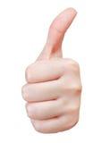 Отделенный жест рукой большого пальца руки вверх - Стоковые Изображения RF