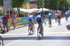 Отделка гонки велосипеда Стоковые Фото