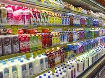 Отдел молока стоковое фото