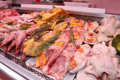 Отдел мяса Стоковая Фотография