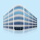 Отдельное офисное здание с отражением бесплатная иллюстрация