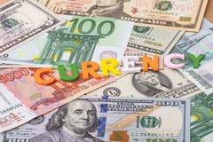 Отдельное слово - валюта Стоковые Фото
