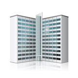 Отдельно стоя офисное здание, деловый центр иллюстрация вектора