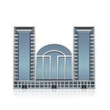 Отдельно стоя офисное здание, цент дела иллюстрация штока