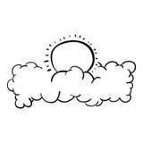 Отдельные облако и дизайн солнца Стоковые Изображения RF