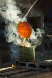 Отливка металла Стоковое фото RF