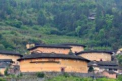 Отличаемая китайская историческая резиденция, замок земли Стоковые Фотографии RF
