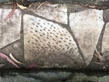 От камня фигурной стрижки кустов надгробной плиты кладбища вымощая, 11 Стоковые Фотографии RF