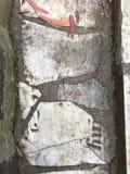 От камня фигурной стрижки кустов надгробной плиты кладбища вымощая, 20 Стоковая Фотография RF