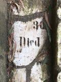 От камня фигурной стрижки кустов надгробной плиты кладбища вымощая, 29 Стоковое Изображение RF