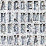 ОТ НАЧАЛА ДО КОНЦА алфавит на мраморе Стоковое Изображение