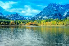 От обочины, парк долины брызга захолустный, Альберта, Канада Стоковая Фотография RF