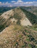 От саммита пика Horton, белые горы облака, рекреационная зона Sawtooth национальная, Айдахо стоковые изображения rf