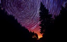 От сумрака до рассвета - тропок звезды Стоковое Изображение