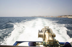 От шлюпочной палуба к морю Стоковая Фотография RF