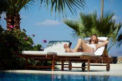Отдыхать в солнце Стоковая Фотография