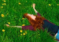 отдыхать девушки Стоковые Изображения RF