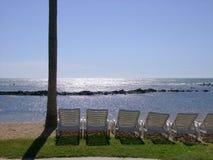 отдыхать пляжа стоковая фотография