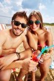 отдыхать пляжа Стоковые Изображения RF
