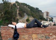 отдыхать девушки Стоковое Изображение RF
