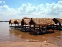 Отдыхая сараи на деревне 2 кхмера Стоковое Изображение