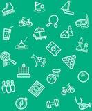 Отдых и развлечения, предпосылка, безшовная, зеленый цвет Стоковая Фотография