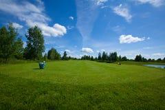 Отдых active поля гольфа Стоковое Изображение RF