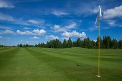 Отдых active флага гольфа Стоковое фото RF
