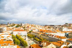 От Elevador de Санта Justa, Лиссабона стоковые фото