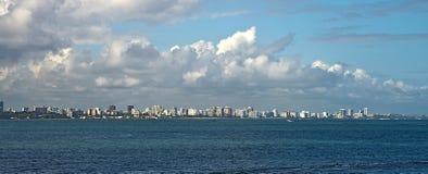 От Isla Verde к El Morro, Сан-Хуан, Пуэрто-Рико Стоковое Изображение RF