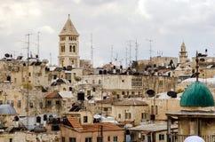 От Mount Scopus, Иерусалим, Святая Земля Стоковое Изображение RF