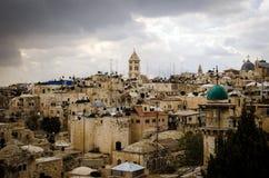 От Mount Scopus, Иерусалим, Святая Земля Стоковые Фото