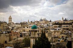От Mount Scopus, Иерусалим, Святая Земля Стоковая Фотография