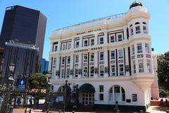 Офисное здание причала доски гавани Веллингтона Стоковое фото RF