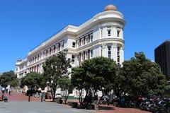 Офисное здание причала доски гавани Веллингтона Стоковые Фотографии RF