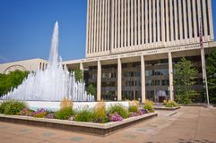 Офисное здание церков Иисуса Христоса новейших Святых, церков Мормона, на квадрате виска на Солт-Лейк-Сити Стоковое Изображение