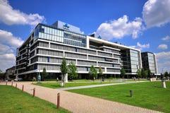 Офисное здание банка K&H в финансовом районе Будапешта Стоковое Изображение