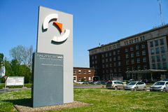 Офисное здание Зальцгиттер AG, Зальцгиттер, Германию Стоковое фото RF