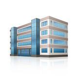 Офисное здание с входом и отражением Стоковые Изображения RF