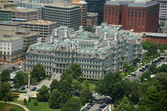 Офисное здание Eisenhower старое исполнительное в DC Вашингтона, США Стоковые Фотографии RF