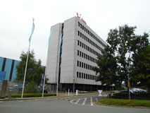 Офисное здание TUIfly, Ганновера, авиапорта, более низкой Саксонии, Германии стоковые фотографии rf